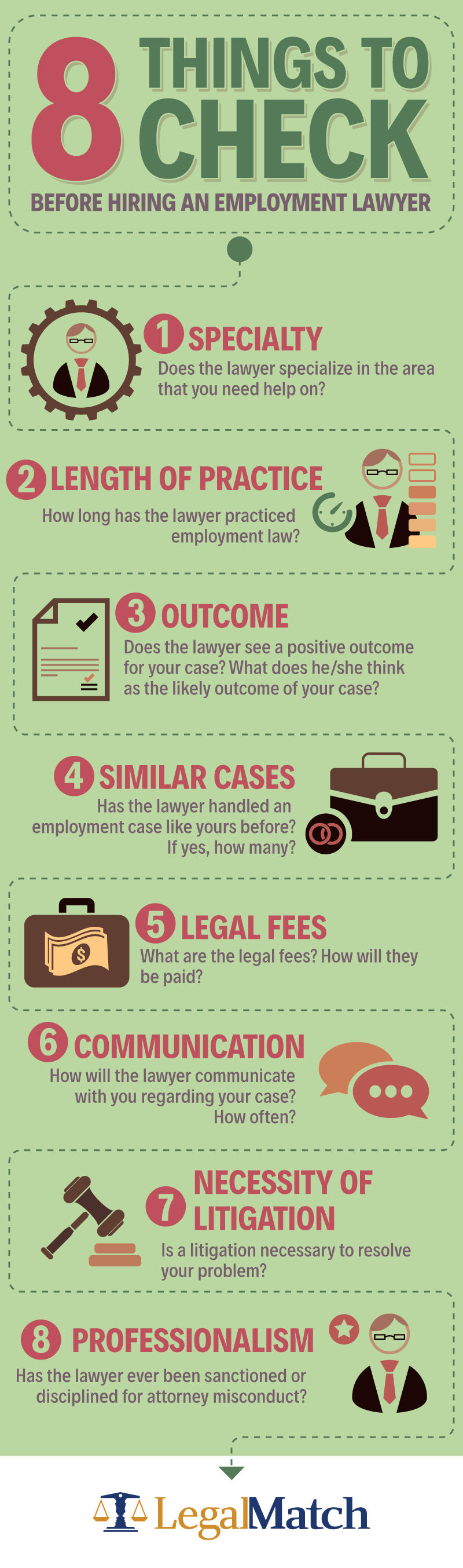 Eight things to check before hiring an employment lawyer