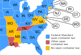 Drinking and Open Container Laws by State