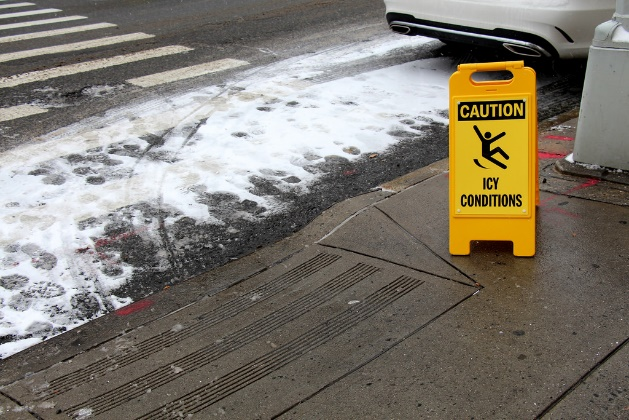 Cold Weather is Coming, Along with Icy Sidewalks