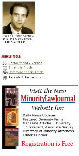 Texas Lawyer Article Ad